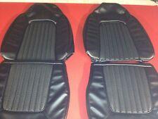 Ford Capri 71/72 High Back Seat trim Covers Full Set,black Robuck Basket Weave