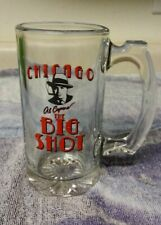 Chicago, IL Illinois Al Capone The Big Shot Mobster Clear Glass Beer Stein Mug