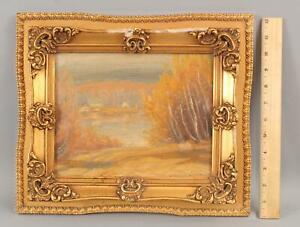 Antique GUSTAVE WIEGAND New Hampshire American Impressionist Landscape Painting