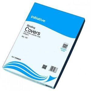 CO9819 Initiative PVC Binding Covers A4 250 Micron  White