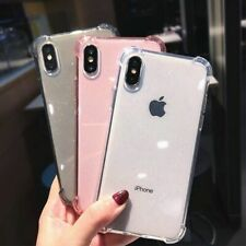 Anti-knock Glitter Powder Soft Clear Back Phone Case iPhone XR X XS  11 11Pro 6S