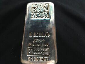 1 kilo silver bar RMC