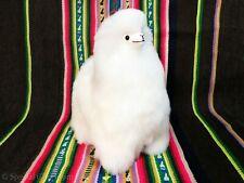 Handmade Alpaca Fur Llama, Stuffed White Alpaca, Peruvian Soft Toys, Gift Ideas