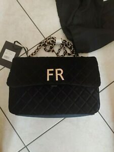 Mia Bag in Velluto Nero con tracolla | Originale e nuova