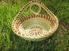 Sweetgrass Gullah Bread Basket with Single Loop