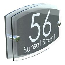 Classsic House Signs Plaques Door Numbers 1 - 999 Personalised Name Plate