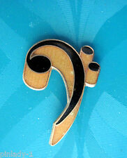 F Clef ( BASS  CLEF ) music note - hat pin , tie tac , lapel pin GIFT BOXED