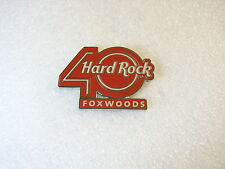 FOXWOODS,Hard Rock Cafe Pin,40TH ANNIVERSARY LOGO PIN