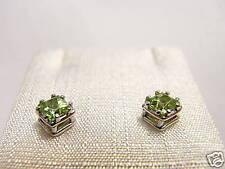 orecchini argento peridoto princess Swarovski stones