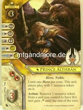 Warhammer Invasion - 1x Prince Althran  #089 - Portent of Doom