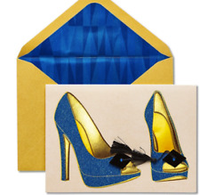 Papyrus Graduation Card -  Glitter Stiletto Heels  Step on Your Road to Fabulous