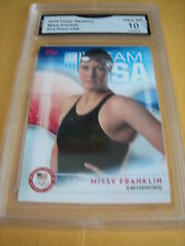 MISSY FRANKLIN SWIMMING 2016 TOPPS USA OLYMPICS # 14 GRADED 10