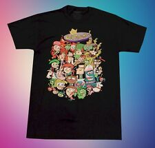 New Nickelodeon The Fairly Odd Parents Vintage Men's Black Retro T-Shirt