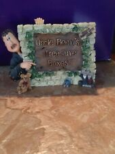 New! Boyds Bears & Friends Uncle Bean'S Treasure Boxes Resin Sign