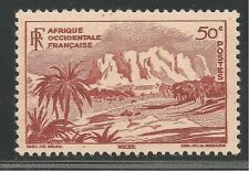 French West Africa #39 (SG #37) VF MINT - 1947 50c Oasis of Bilma, Niger