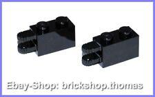 LEGO 2 X cerniera giunto Pietra Nero - 30540-Hinge BLACK-NUOVO/NEW