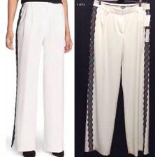 NWT ✅ Nordstrom Designer Chelsea 28 Women's Ivory /White Pants, Lace Detail Sz 6