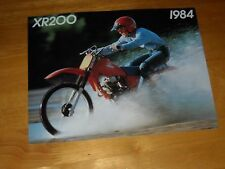 1984 Honda XR200 Sales Brochure advertising pamphlet 2-page booklet