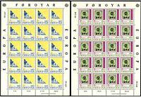 FAROER 1979, CEPT-EUROPA. Satz Kleinbogen, postfrisch ** MNH, Mi 43-44