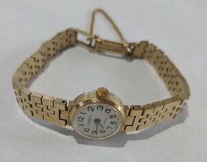Damen Armbanduhr Handaufzug Chaika UdSSR Russiche Uhr mechanisch 17 Jewels