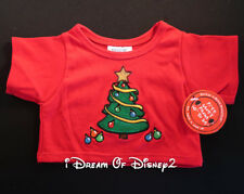 NWT Build-A-Bear CHRISTMAS TREE RED TEE SHIRT Top Teddy Holiday Clothes RETIRED