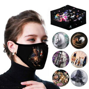 Face Mask Mouth Protection Face Cover Masks Washable Reusable Animal Printed