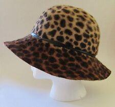 ERIC JAVITS Hat Leopard Print Trilby Sz 7