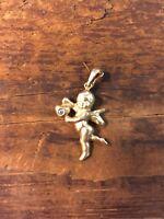 Cherub Cupid Heart Michael Anthony 14k Gold Pendant or Charm Guardian Angel NIB