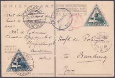 1933 COMMEMORATIVE POSTCARD CARRIED ON 'POSTJAGER' & 'PELIKAAN' FLIGHTS