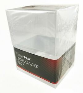 """ULTRA PRO TOP LOADERS TRADING CARD STORAGE BOX Holds 30 3""""x4 Regular TopLoaders"""