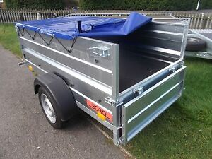 Trailer Car Camping box double side broadside + flat cover 750kg