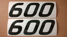 600 600cc x2 HONDA KAWASAKI SUZUKI DUCATI SERBATOIO, forchette, Moto Adesivo Vinile