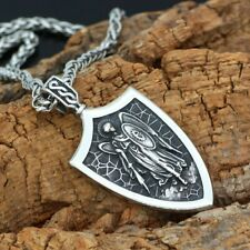 Archangel Saint 'St Michael Protect Us' Pray Prayer Pendant Medal Necklace Chain