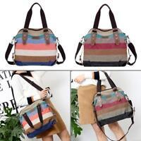 Women Bag Canvas Shoulder Tote Handbag Travel Satchel Cross Body Messenger Purse