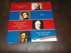 2010 P&D $1 Presidential Dollar 8 Coin Set Lot Uncirculated Mint State UNOPENED