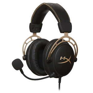 HyperX Cloud Alpha GOLD Gaming Headset for PC, PS5, Xbox, Switch [RE-CERTIFIED]