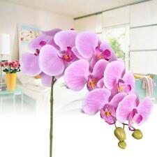 Latex Flower Artificial PU Moth Butterfly Orchid Home Decoration Light Purple WT
