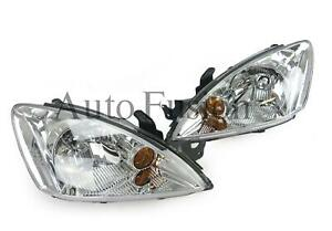 Headlights Pair In Chrome For Mitsubishi Lancer CH (2003-2007)