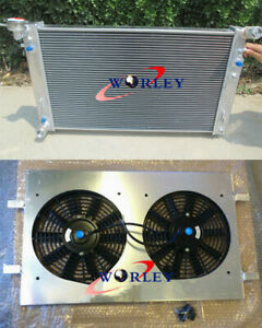 Aluminum alloy Radiator+Shroud +Fan For Holden Commodore V6 VT VX 3.8L