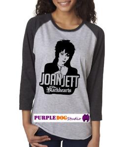 Joan Jett and the Blackhearts 3/4 Sleeve Baseball T-Shirt S-2XL