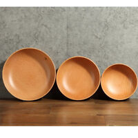 Bowls for Soup Fruits Oatmeal Gruel Spaghetti Pasta Multifunctional Wooden