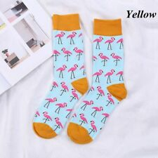 Winter Warm Cute Novelty Flamingo Casual Socks Retro Cotton Hosiery Gifts Unisex Yellow