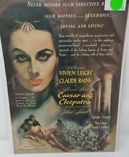 Vintage Antique 1946 Caesar And Cleopatra Motion Picture Advertisement