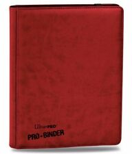 Ultra-Pro PREMIUM Pro-Binder RED With 20 Trading Card Pages to Hold 360 Cards