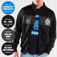 DEAKINS Mens Zip Up Jackets No Hood Track Top Fleece Tops Size XL 2XL 4XL 5XL