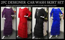 NEW 2 PC Car Wash Skirt set, Holidays, Dance,Party,Cruise, Holidays & more