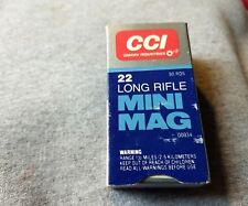 Vintage Cci Mini Mag .22 Lr Cartridge Shell Box (Empty Box)