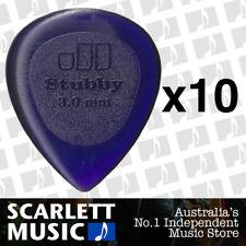 10 x Jim Dunlop Jazz Stubby 3.00MM Gauge Guitar Picks *NEW* Plectrums, Purple