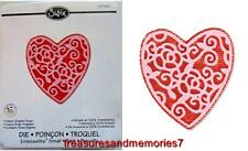 Sizzix Embosslits HEART ENGLISH ROSE 657407 Die RETIRED HTF