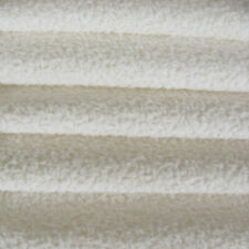 1/6 yd Vis1/Scm White Intercal 6mm Med. Dense Curly Matted German Viscose Fabric
